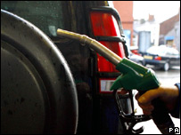 A car being refuelled