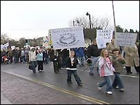 Protest march in Newport