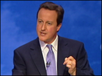 David Cameron at Conservative spring forum
