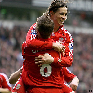 Torres celebrates another goal