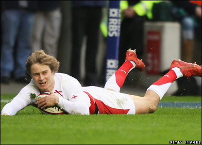 Tait scores England's second try