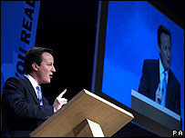 David Cameron at conference