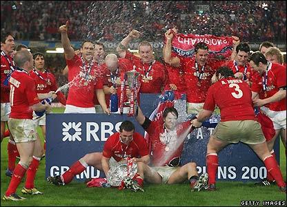 Wales celebrate success