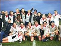 England's women rugby players