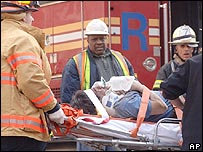 Casualty from crane collapse in New York