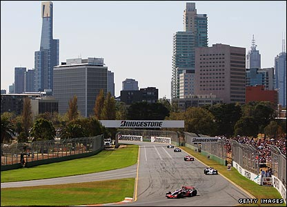 Backdrop to the Australian Grand Prix