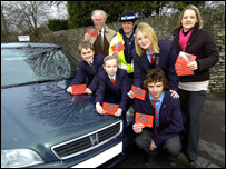 Pupils from Whitstone in Shepton Mallet launch the red card scheme