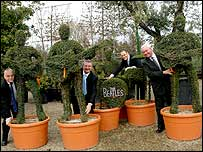 The Beatles topiary