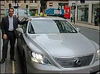 Justin King and his Lexus limousine