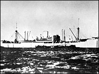 Shipwrecked German warship DKM Kormoran