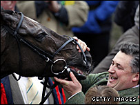Denman with trainer Paul Nicholls