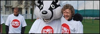 Top football stars are supporting Sport Relief