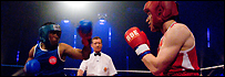 Lemar and Ben Shephard do battle in Sport Relief celebrity boxing