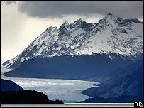 Glaciar Grey de Chile.