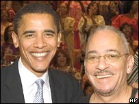 Barack Obama (l) with his pastor, the Rev. Jeremiah Wright of Trinity United Church of Christ 