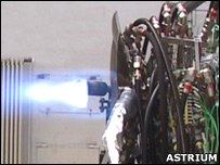 Romeo engine burn (Astrium)
