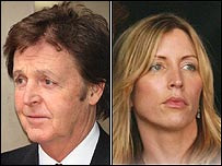 Paul McCartney y Heather Mills.