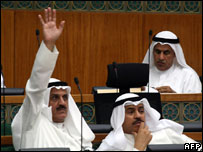 Kuwait ministers in parliament