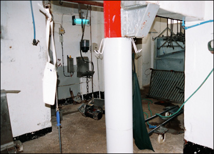 The south Wales E.coli inquiry was shown images from inside the JE Tudor abattoir in Treorchy, Rhondda.