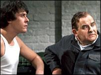 Richard Beckinsdale and Ronnie Barker in Porridge