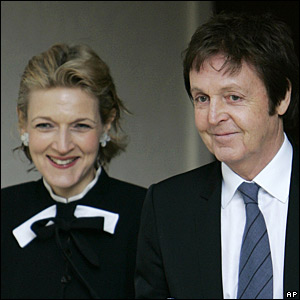 Sir Paul McCartney with divorce lawyer Fiona Shackleton