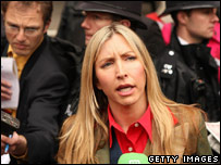Heather Mills outside court