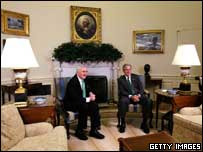 The two men held talks before the White House reception