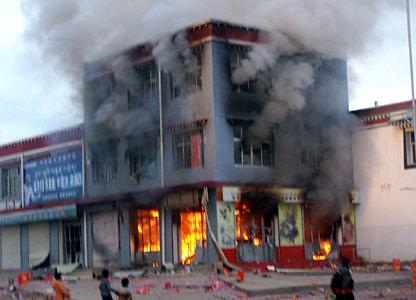 Tibetan protest scenes