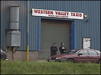 The taxi firm where the murders took place
