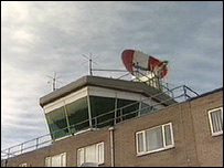 Norwich Airport control tower