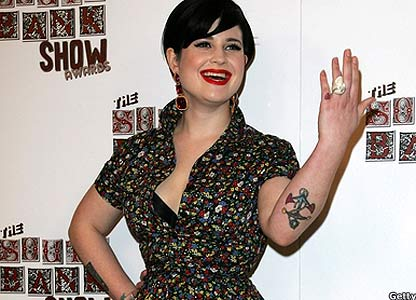Radio 1 DJ Kelly Osbourne has a tattoo of a small pink heart on her little
