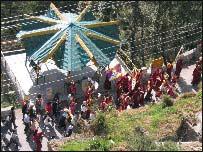 Protesting monks in Dharamsala
