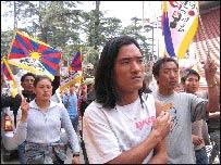 Protest in Dharamsala