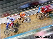 Track cycling omnium race