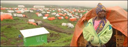 Kibumba camp in DRC