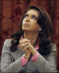 Cristina Fern�ndez, presidenta de Argentina.