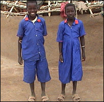 Arek Anyiel Deng's children, Khalid (l) and Mariem (r)
