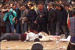 Images of Tibetan protesters allegedly killed by Chinese troops ((Courtes (Picture sent to Tibetan portal Phayul.com)
