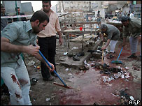 Aftermath of bombing in Karbala - 17/03/2008