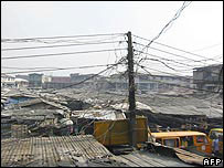 Electricity cables in Nigeria, 2003