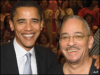 Barack Obama (l) and the Rev Jeremiah Wright, of Trinity United Church of Christ