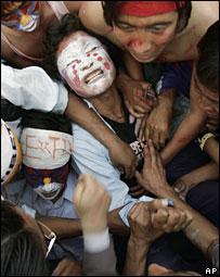Tibetans protest in India