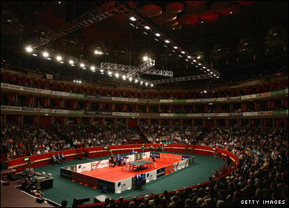Table tennis at the Royal Albert Hall