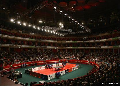 Table tennis at the Royal Albert Hall