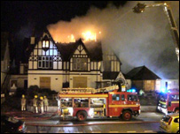 Fire at former Grange Hotel, Rhyl (Pic: Martin Moyse)