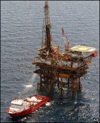 File photo of an offshore oil installation in the Gulf of Mexico