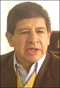 Bolivian Minister of Hydrocarbons, Carlos Villegas
