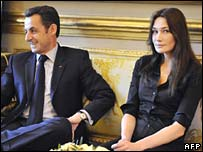 French President Nicolas Sarkozy with his new wife, Carla Bruni