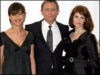 The stars of Quantum of Solace
