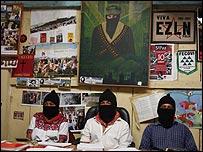 Miembros de la Junta de Buen Gobierno de Oventik  Foto: Manuel Toledo, BBC Mundo